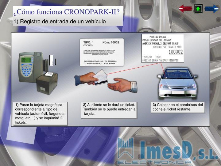 ¿Cómo funciona CRONOPARK-II?