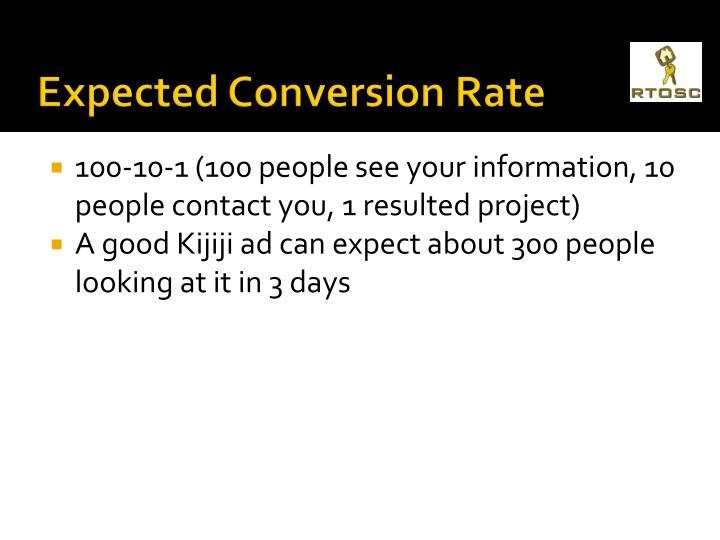Expected Conversion Rate