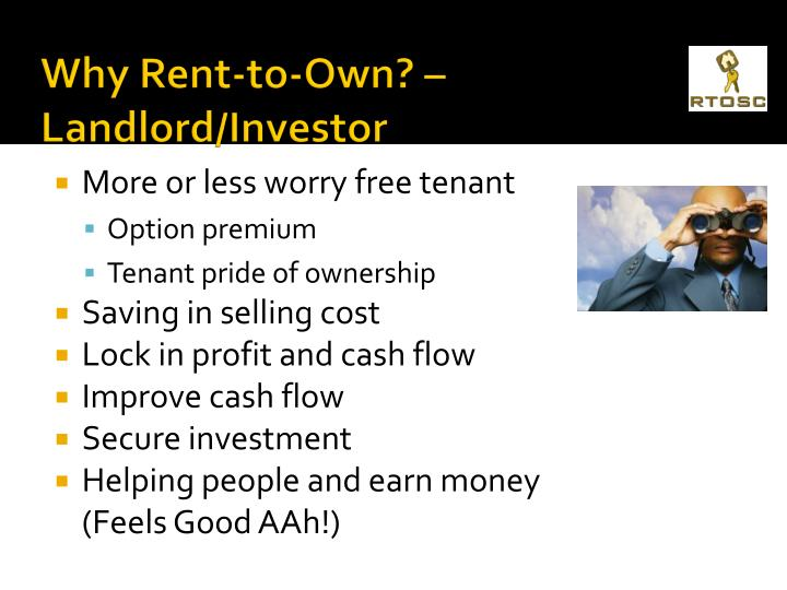 Why Rent-to-Own? – Landlord/Investor