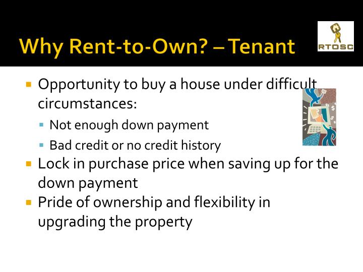 Why Rent-to-Own? – Tenant