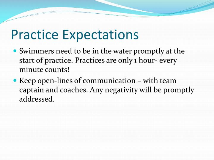 Practice Expectations