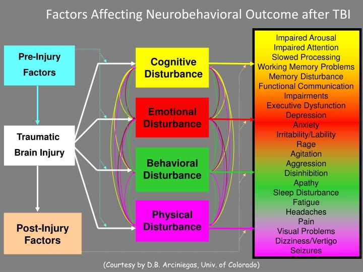 Factors Affecting Neurobehavioral Outcome after TBI