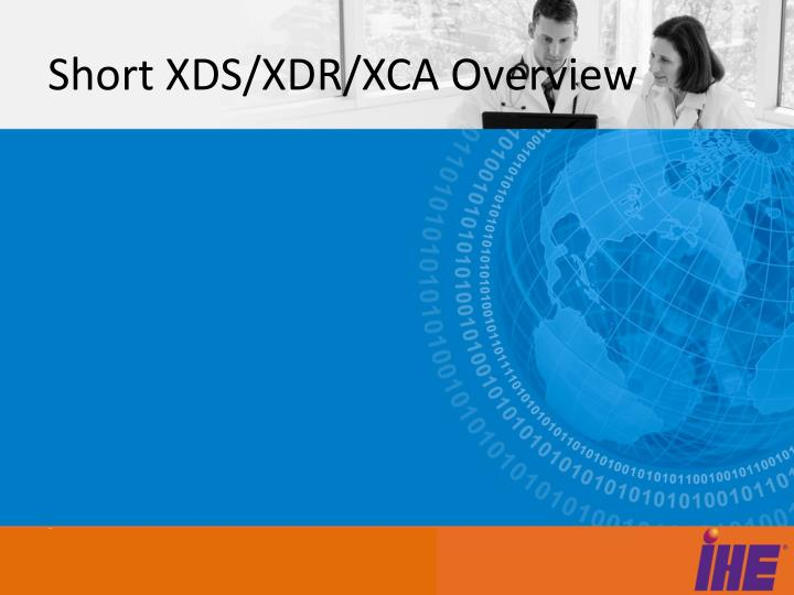 Short XDS/XDR/XCA Overview