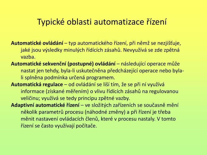 Automatické ovládání