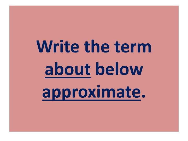 Write the term