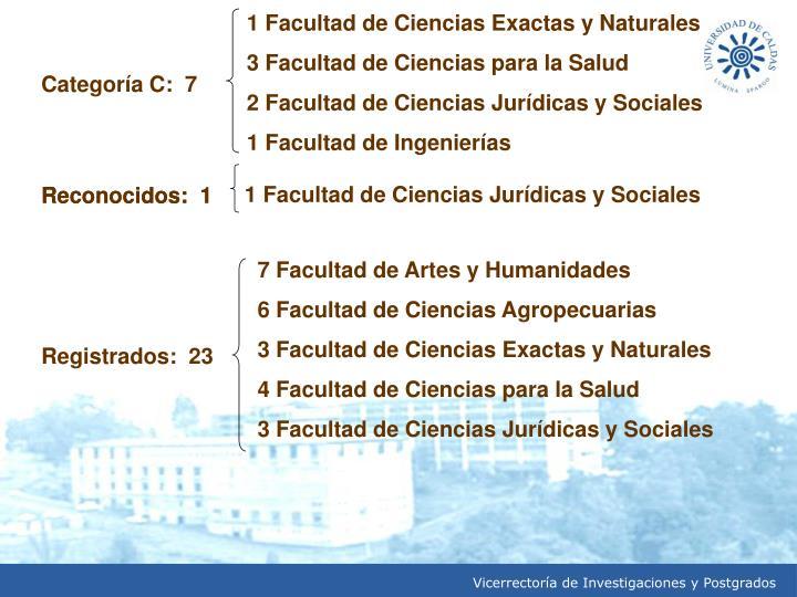 1 Facultad de Ciencias Exactas y Naturales