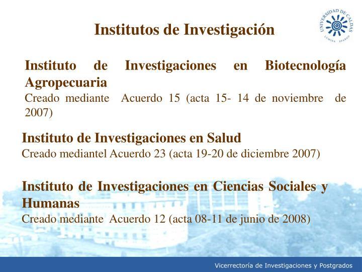 Institutos de Investigación