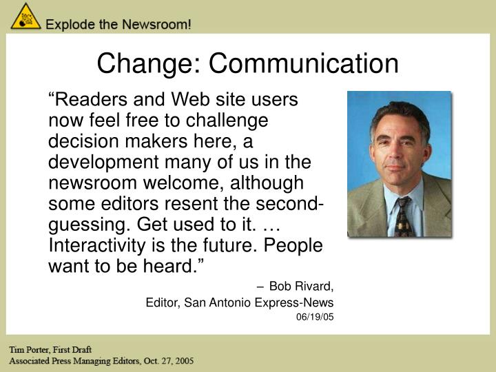 Change: Communication