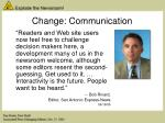 change communication