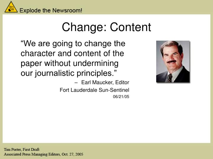 Change: Content