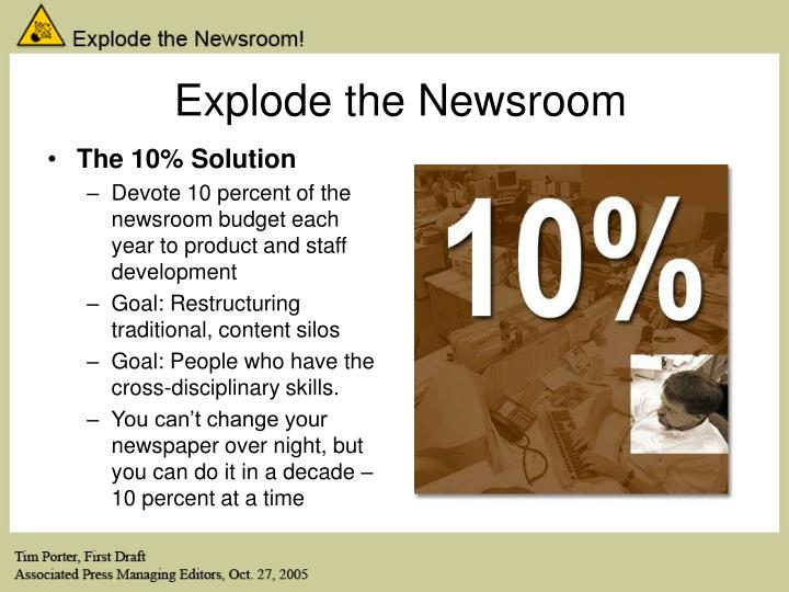 Explode the Newsroom