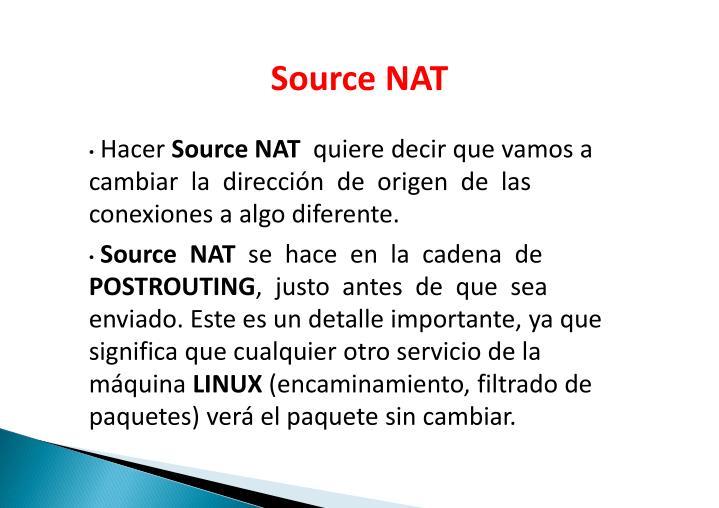 SourceNAT