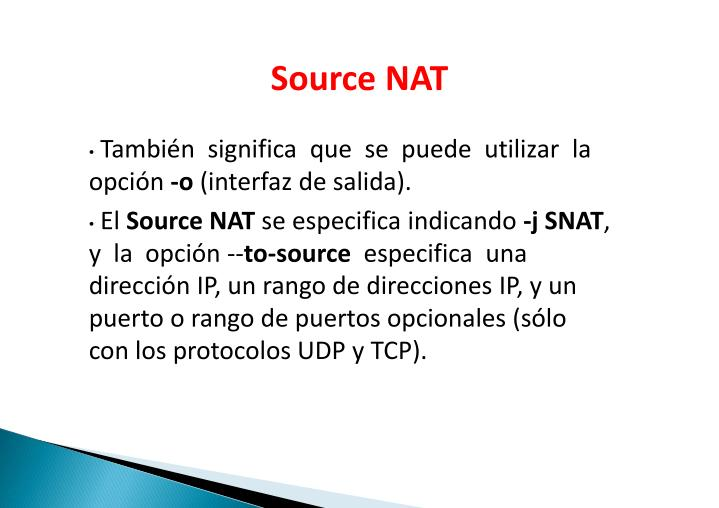 Source NAT