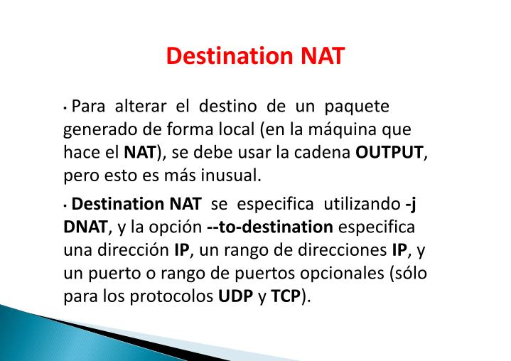 Destination NAT