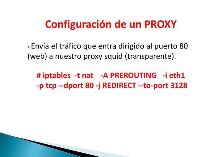 ConfiguracióndeunPROXY