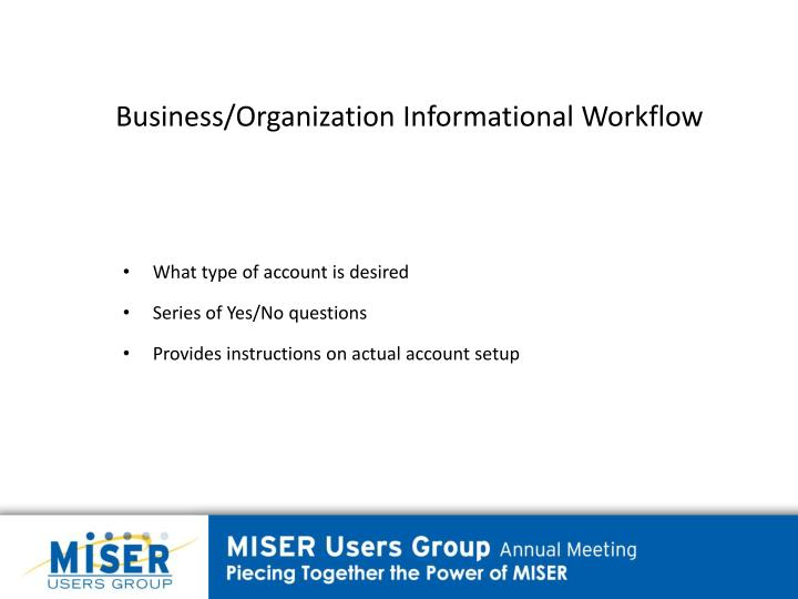 Business/Organization Informational