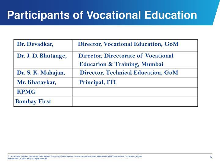 Participants of Vocational Education