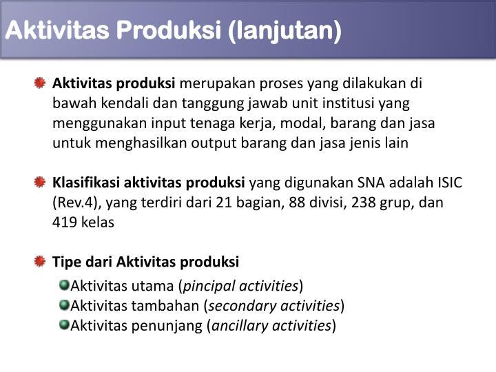 Aktivitas