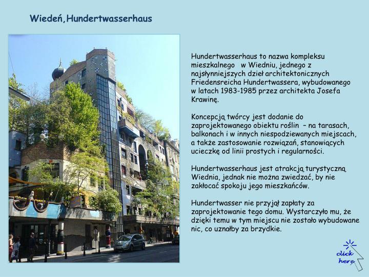 Wiedeń,Hundertwasserhaus