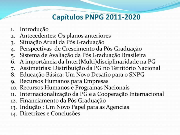 Capítulos PNPG 2011-2020