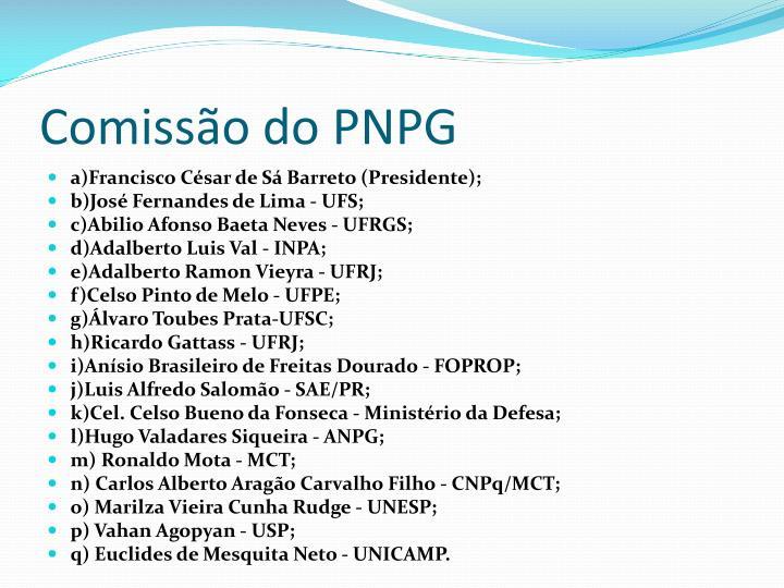 Comissão do PNPG