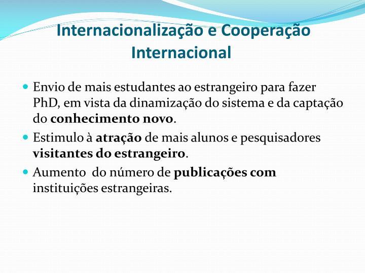Internacionalização e Cooperação Internacional