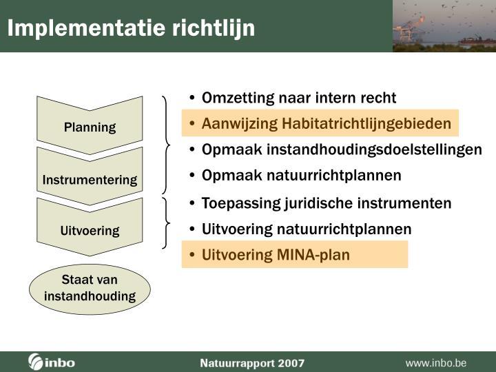 Implementatie richtlijn