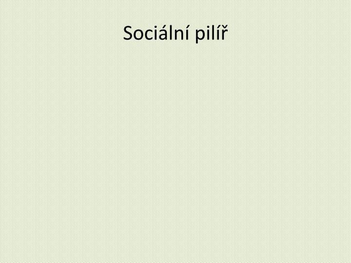 Sociální pilíř