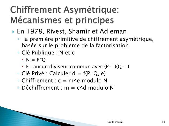Chiffrement Asymétrique: Mécanismes et principes