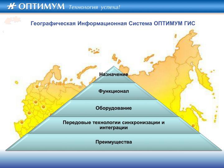 Географическая Информационная Система ОПТИМУМ ГИС