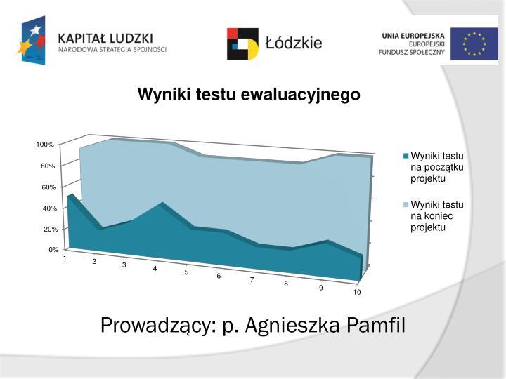 Prowadzący: p. Agnieszka Pamfil