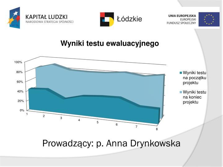 Prowadzący: p. Anna Drynkowska