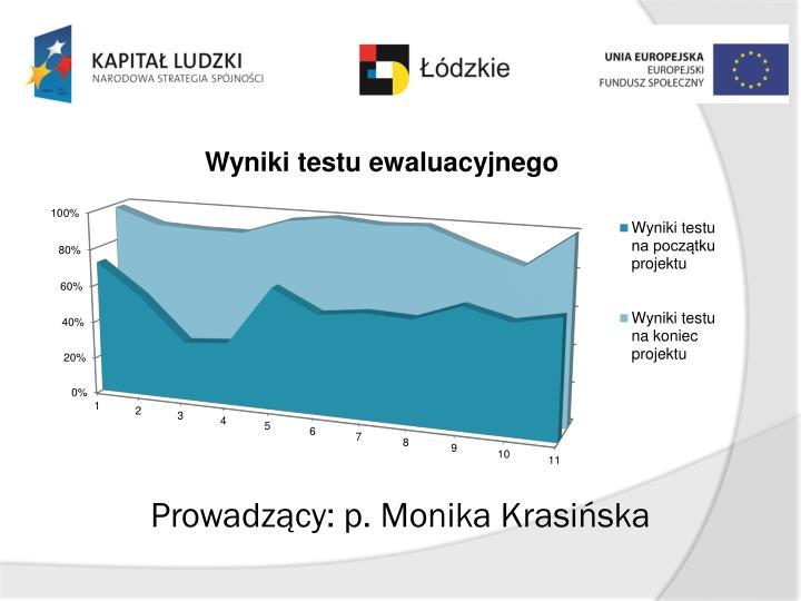 Prowadzący: p. Monika Krasińska