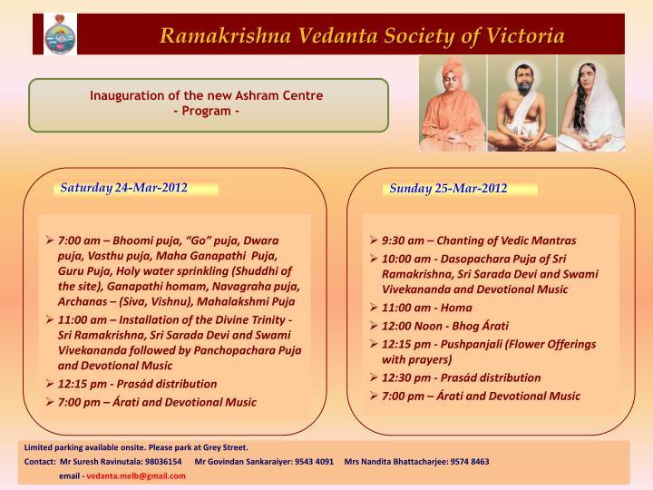 Ramakrishna Vedanta Society of Victoria