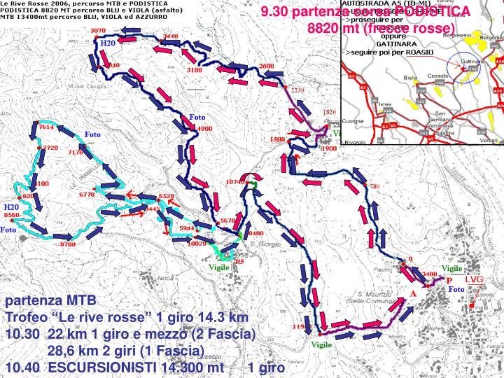 9.30 partenza corsa PODISTICA