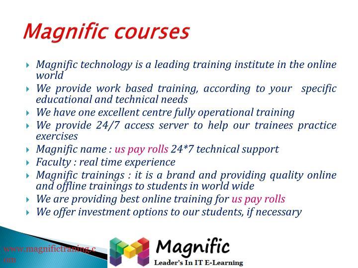 Magnific courses