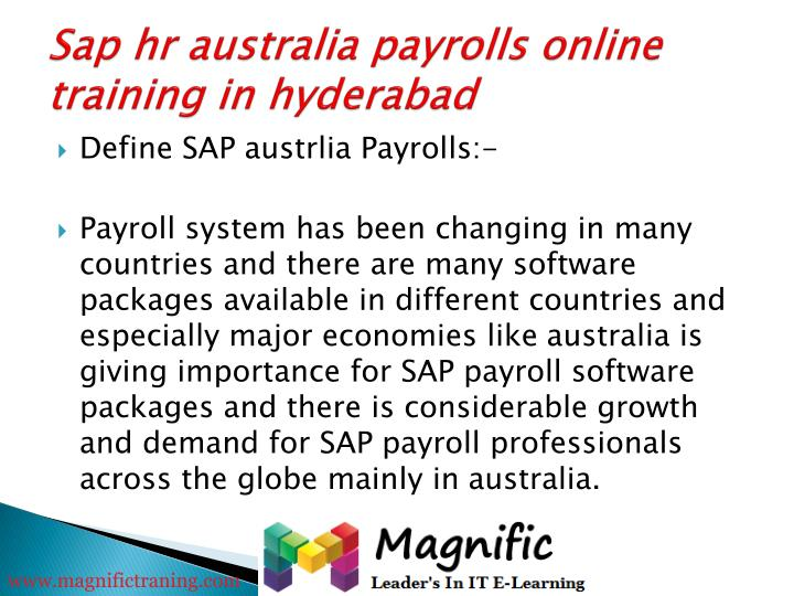 Sap hr australia payrolls online training in hyderabad