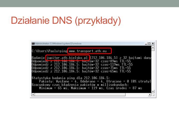 Działanie DNS (przykłady)