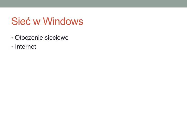 Sieć w Windows