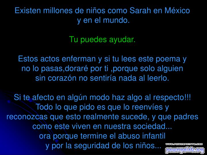 Existen millones de niños como Sarah en México