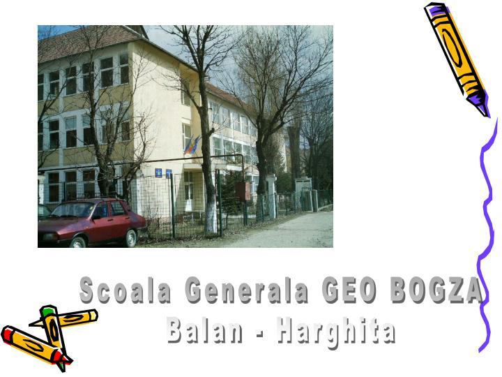Scoala Generala GEO BOGZA