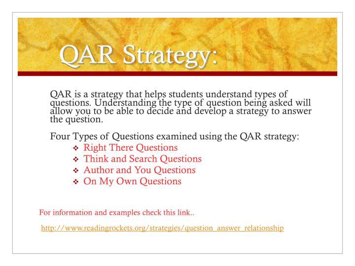 QAR Strategy: