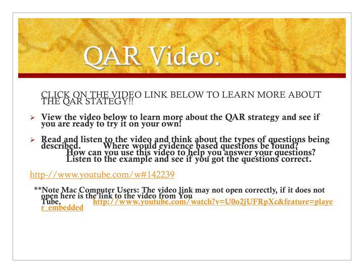 QAR Video: