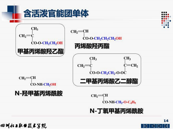 含活泼官能团单体