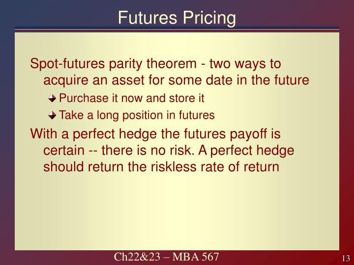 Futures Pricing