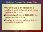 hedging foreign exchange risk