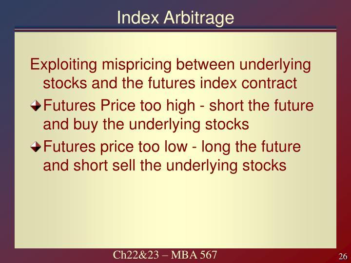Index Arbitrage
