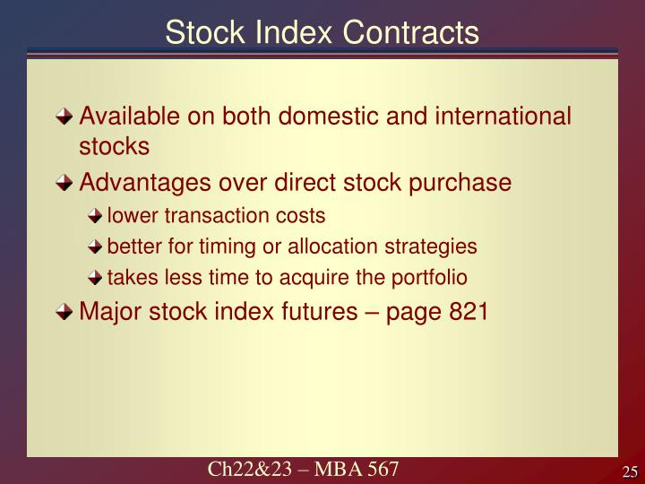 Stock Index Contracts