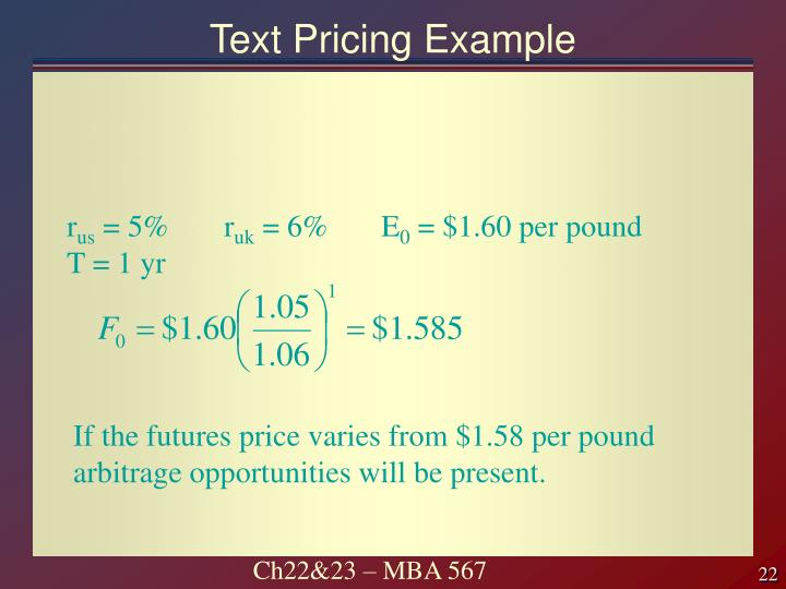 Text Pricing Example