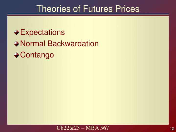 Theories of Futures Prices